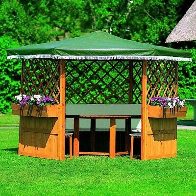 pavillon gartenlaube holzhaus gartenhaus gartenlaube sonnenschutz zelt party eur 689 99. Black Bedroom Furniture Sets. Home Design Ideas