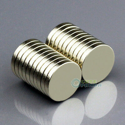 20pcs Strong Disc Disk Round Rare Earth Neodymium Magnets 10mm x 1.5mm N50 Grade