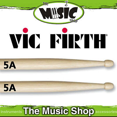 3 Pairs of Vic Firth American Classic 5A Wood Tip Drum Sticks New