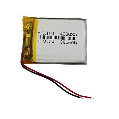 403035 3.7V 380 mAh rechargeable Polymer Li battery For GPS Mp3 Mp4 Bluetooth