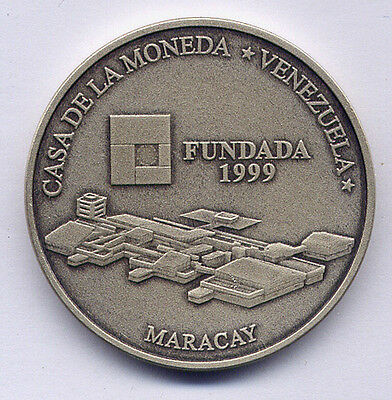 1999 Venezuela Silver Coin 6000 Bolivares in Mint Pouch