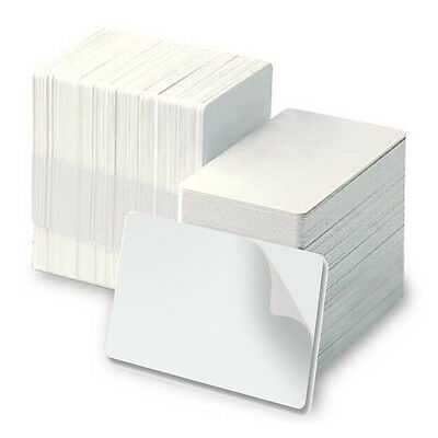 Fargo HID  82266 CR80 10 mil Blank White PVC Cards with Paper Adhesive Back