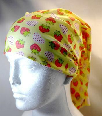 Multifunction head wrap neck tube scarf mask hat STRAWBERRY cycling hiking hair