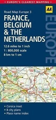 3. France, Belgium & the Netherlands: AA Road Map Europe by AA Publishing...