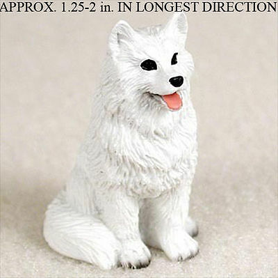 American Eskimo Mini Hand Painted Figurine