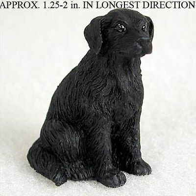 Flat Coated Retriever Mini Resin Hand Painted Dog Figurine