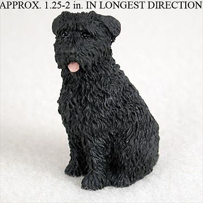 Bouvier Mini Resin Hand Painted Dog Figurine Statue Hand Painted Uncrop