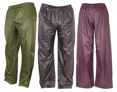 KIDS New Waterproof Lightweight pack away Trousers Outdoors 3 colours all sizes