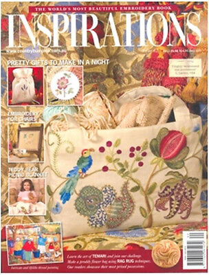 Inspirations Issue #62 Embroidery Magazine Sewing Inc Patterns - New
