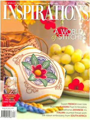Inspirations Issue #74 Embroidery Sewing Magazine Incl Patterns - New