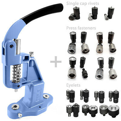 Starter set 14 in 1 hand press and dies eyelets rivets press fasteners S016