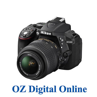 New NIKON D5300 18-55 VR II Kit Full HD 24MP DSLR 1 Year Au Wty