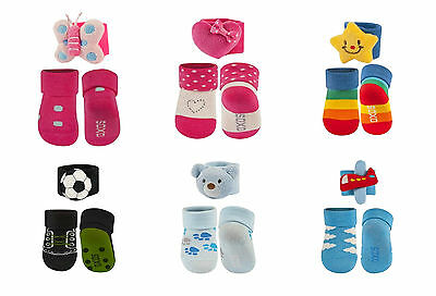 Brand New Newborn Baby Girls Boys Socks with Wrist Rattle age 0-12 months