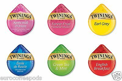 Tassimo Twinings Tea 8 x T-DISCS / Pods / Capsules  - Choose from 6 Flavours.