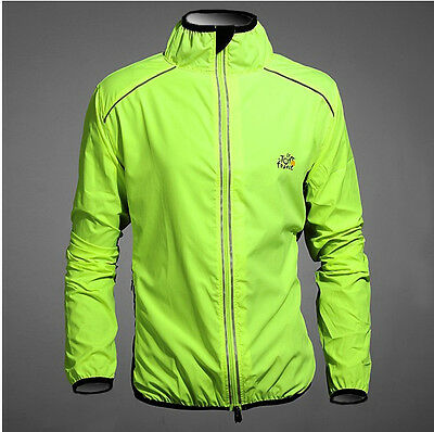 Green New Cycling Clothing Bike Bicycle Ultra-thin Windbreaker Raincoat S-4XL