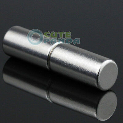 2pcs Strong Round Cylinder  Rare Earth Neodymium Magnets 10mm x 20mm N50 Grade