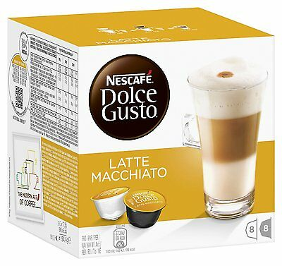 Dolce Gusto Latte Machiato (6 Boxes,Total 96 Capsules ) 48 Servings