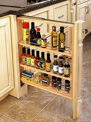 Rev-A-Shelf Lower Cabinet Filler/pullout/organizer/spice Rack, Rs432.bf