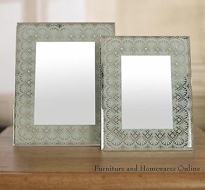 Antique Style Glass Face Photo Frames 4x6 & 5x7 BRAND NEW Picture Frame