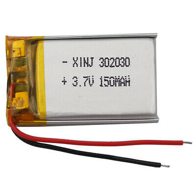 3.7V 150 mAh Polymer Li battery For Mp3 GPS sat Nav bluetooth headset pen 302030