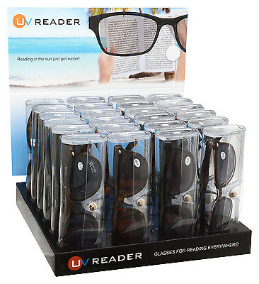 Sun Readers Reading Glasses Wholesale 24 Piece Trade Pack By UV Reader UVSR24TPK