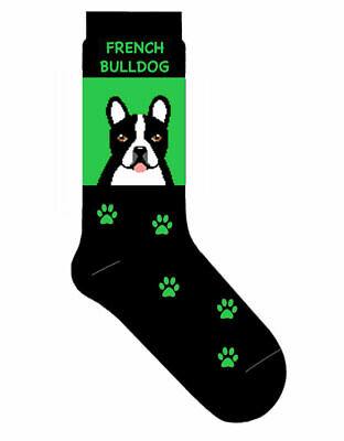 French Bulldog Socks Lightweight Cotton Crew Stretch Egyptian Made