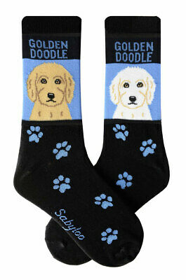 Goldendoodle Dog Socks Lightweight Cotton Crew Stretch Egyptian Made