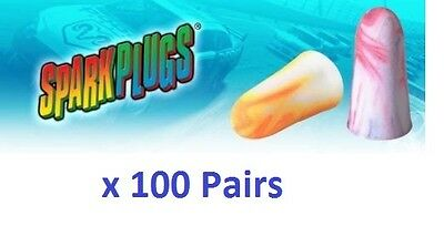 100 Earplugs Moldex SparkPlugs Offically Licensed Of Nascar Individually Wrapped