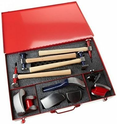 PowerTec Hammer & Dolly 11 Piece Tool Kit Supplied In Heavy Duty Metal Case