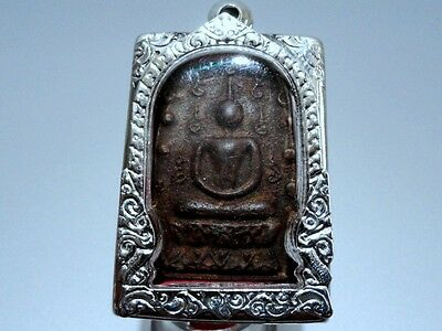 Thai Amulet Magic Lp Boon Buddha Black Necklace Rare Pendant Charm Lucky Brand