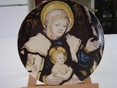 Christmas Stamp Plate 1980,Epiphany Stained Glass Window of Mother &  child
