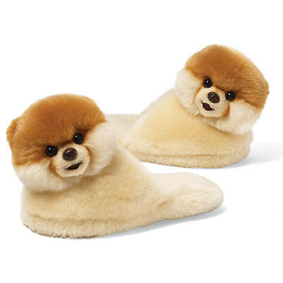 NWT Gund Boo The Worlds Cutest Dog Child Size Slippers