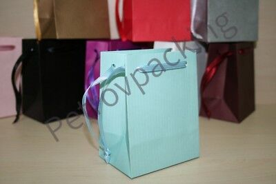 Extra Small Blue Paper Gift Bags Pk Of 10 Handmade