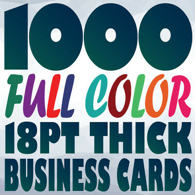 1000 18pt BUSINESS CARD Printing on Two Sides Full Color UV Gloss or Uncoated