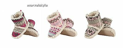 Baby Girls Knitted Booties Boot Slippers with Non-Slip ABS Soles 0-24 months
