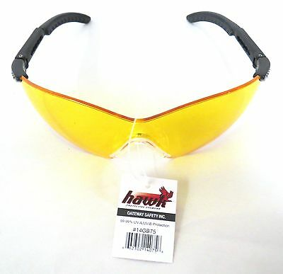 Gateway Hawk Motorcycle Safety Glasses 14GB75, Golden Amber