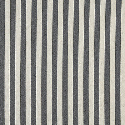 A0009G Midnight Off White Striped Upholstery Fabric By The Yard