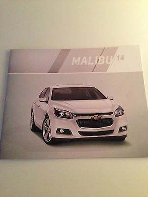 2014 Chevy Malibu 30-page Original Sales Brochure