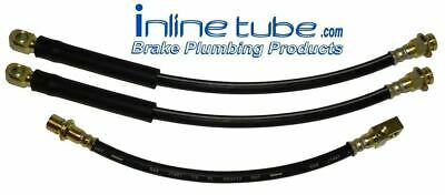 79-81 Camaro Firebird Front Disc Rear Drum Brake Rubber Flex Hose Line Set Kit 3