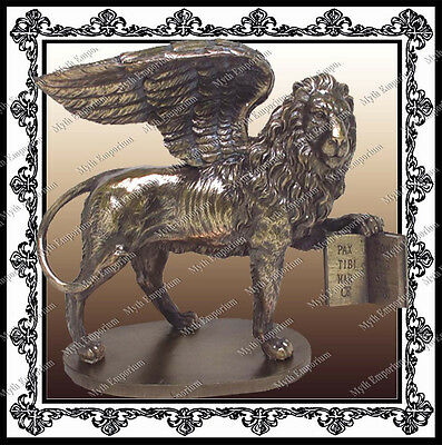 St Marks Winged Lion Venice Venetian History Antique Reproduction Sculpture 1019