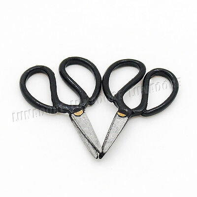 2PCS 1:12 Dollhouse Metal Mini Silver Metal Scissors Dolls House Furniture TGK