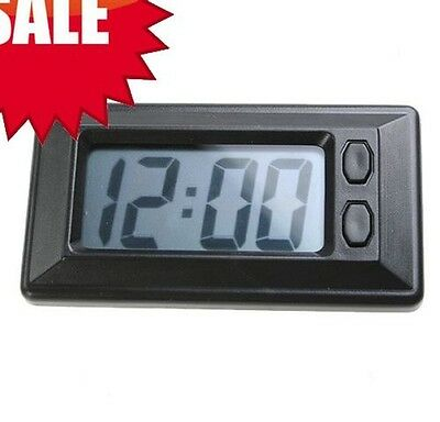 Digital Dashboard Clock And Calendar, Includes Adhesive black