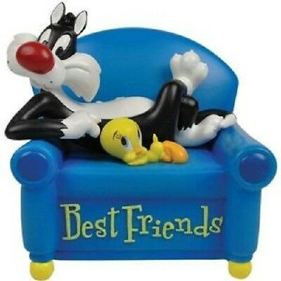 Looney Tunes Sylvester Cat & Tweety Bird Best Friend Musical Figurine Home Decor
