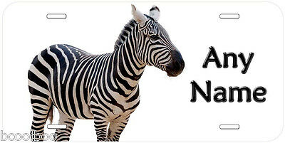 Zebra Aluminum Novelty Auto License Plate