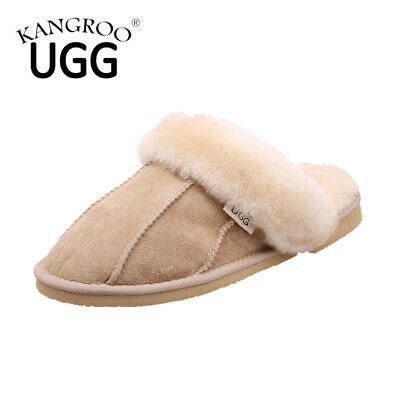 Unisex Winter Australia Sheepskin Kangroo® Ugg Ladies/Mens Slippers Scuffs Shoe