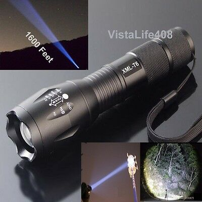 2000 Lumen Zoomable Focus CREE XML T6 LED HighPower Flashlight Torch Lamp 5 Mode
