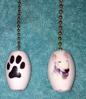 """One Bull Terrier Fan Pull With A Paw Print On The Back 1"""""""