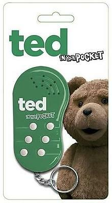 Ted In Your Pocket Talking Keychain / Keyring