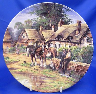 Wedgwood Country Days Collector Plate By Chris Howells - Lunch Break