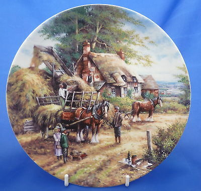 Wedgwood Country Days Collector Plate By Chris Howells - Making The Hayrick